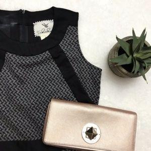 ANTHROPOLOGIE Gray Basketweave Woven Dress {S38}
